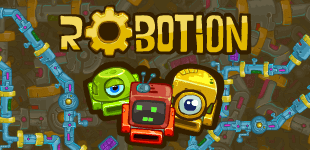Rusty robots work in sets of too and are too old to move. Connect the right pair across 100s of levels!