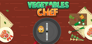 Vegetables vs. ChefHTML5 Game - Gamezop