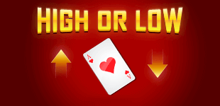 It's a game of luck! What do you instincts say - will it be a high card, or a low card?