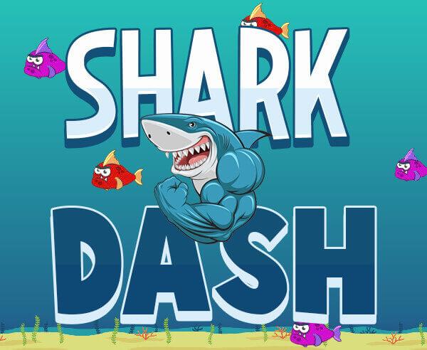 鯊魚短跑-鲨鱼短跑-Shark Dash-參與遊戲,其中收集魚類潛水艇,導彈和放射性桶。