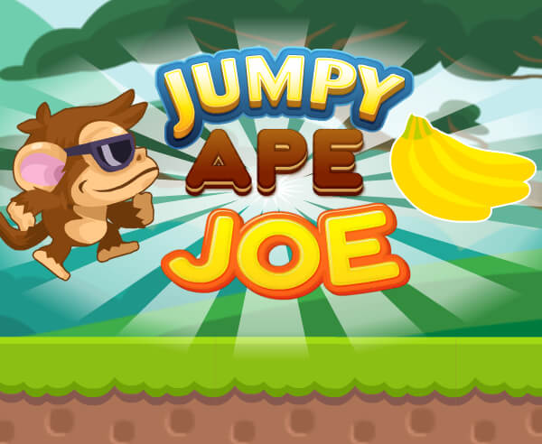 跳躍猩猩喬-跳跃猩猩乔-Jumpy Ape Joe-幫助喬吃掉所有的香蕉!不要忘記留意那個滴答作響的計時器。