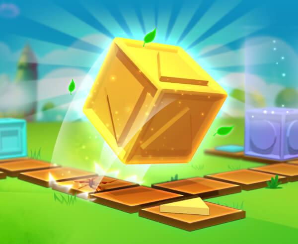 立方體得到了移動-立方体得到了移动-Cubes Got Moves-將立方體翻到正確的位置。立方體有不同的面孔 - 將正確的面部放在正確的位置以獲勝。