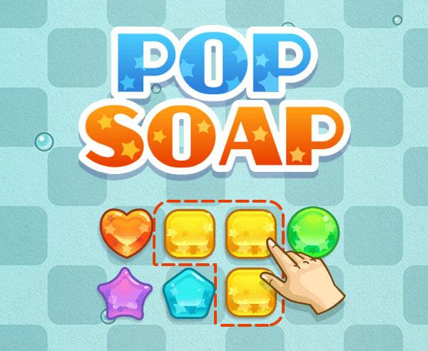 流行肥皂-流行肥皂-Pop Soap-無盡模式中的經典Match-3遊戲和成就模式!請記住,如果有2個或更多相同類型,你可以破滅它們!