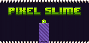 Help this slimy green blob to jump over spikes and gaps to reach the exit in each level!
