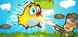 Help cute birds learn to fly. Drag and aim to make them fly from one nest to the other.