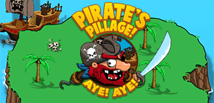 Pirate's Pillage! Aye! Aye!HTML5 Game - Gamezop