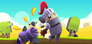 The canon's loaded and the knight's ready! Bounce through your flight while avoiding the onslaught of monsters.